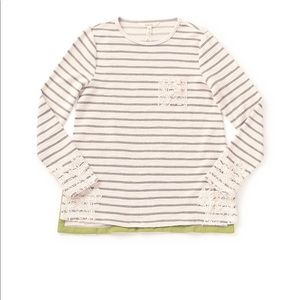 Matilda Jane striped shirt with lace